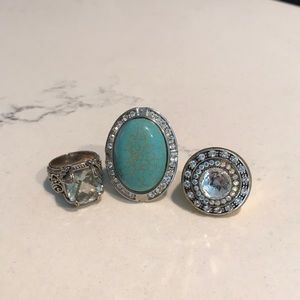 Trio of 3 over-sized Rings!